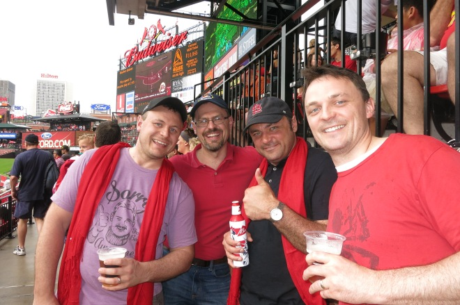 Cardinals game with the husband and his brothers...