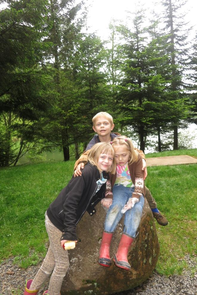 Three kids at our church retreat